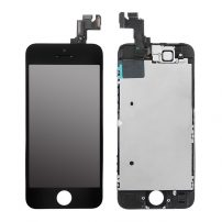 iPhone_5S_Black_LCD_and_Glass_Screen_Digitizer_Replacement_with_Small_Parts
